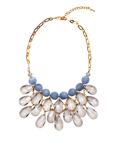 Indian Accessories Designers - Rhea - Indian Designer Jewellery - Necklaces - RH-SS15-9101041 - Blue Ice Chandelier Necklace