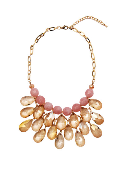 Indian Accessories Designers - Rhea - Indian Designer Jewellery - Necklaces - RH-SS15-9101042 - Pink Chandelier Necklace