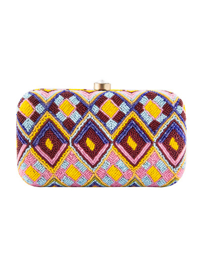 Indian Accessories Designers - The Purple Sack - Indian Designer Bags - TPS-AW15-TPS398 - Bead Blast Clutch