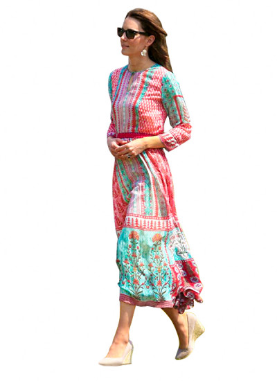 Indian Designers - Anita Dongre - Indian Clothes -  Dresses  - SS16 - RR346 - The Gulrukh Tunic Dress - 1