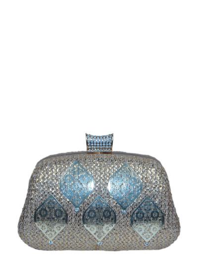 Indian Fashion Designers - Meera Mahadevia - Contemporary Indian Designer - Dual Toned Brocade Clutch - MM-SS16-MM-BRD-003