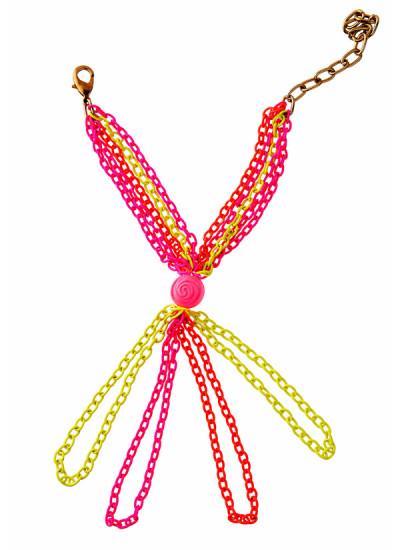 Indian Fashion Designers - Rejuvenate Jewels - Contemporary Indian Designer - Flourescent Five Fingers Haathpaan - RJJ-SS16-RJMHP120