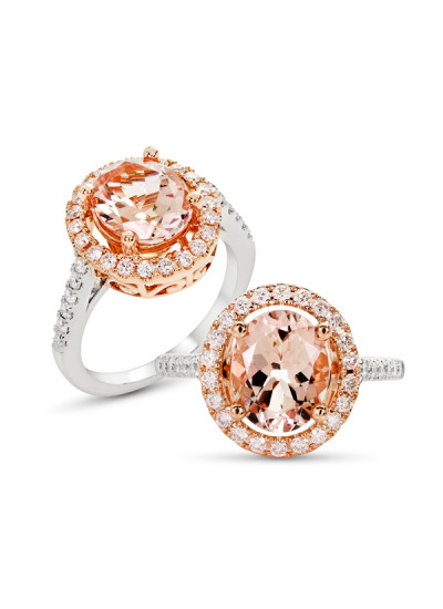 Indian Fashion Designers - Strand of Silk - Contemporary Indian Designer - White And Rose Gold Ring - SOS-AW15-CJ-R11892PW-MO