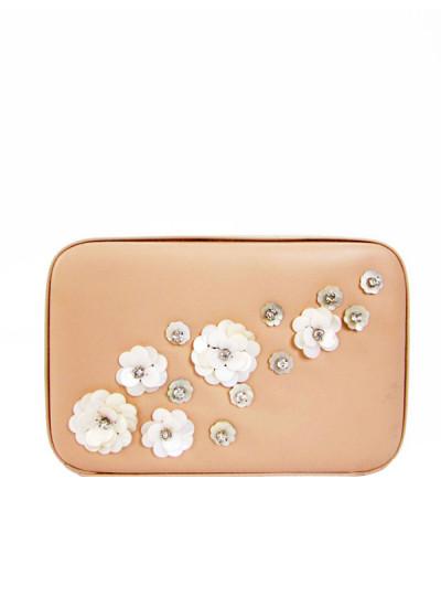 Indian Fashion Designers - Tresclassy - Contemporary Indian Designer - Peach Hand Bag Clutch - TC-SS16-TC1016