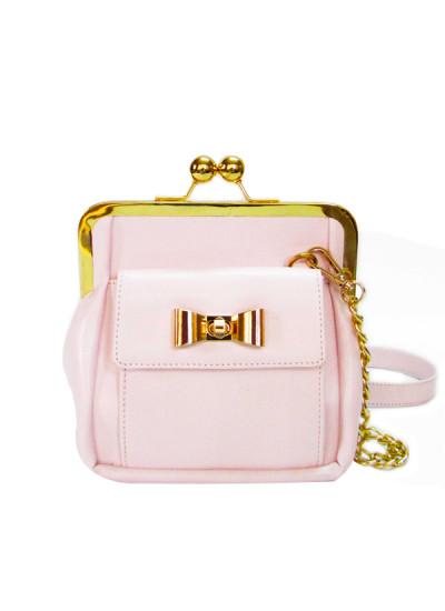 Indian Fashion Designers - Tresclassy - Contemporary Indian Designer - White Bow Lock Classic Frame Bag - TC-SS16-TC1019