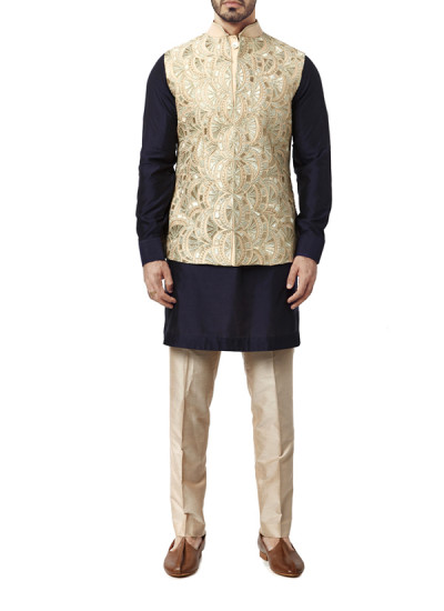Indian Fashion Designers - WYCI - Contemporary Indian Designer Clothes - Jackets - WYCI-AW15-WC-2 - Fully Embroidered Waistcoat