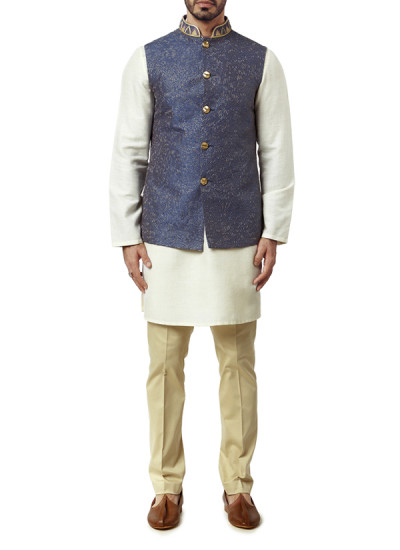 Indian Fashion Designers - WYCI - Contemporary Indian Designer Clothes - Jackets - WYCI-AW15-WC-7 - Deep Purple Waistcoat