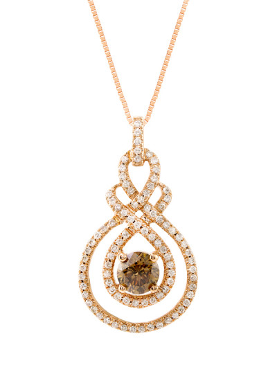 Strand Of Silk Brown Diamond Pendant Necklace Shop At