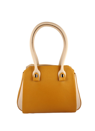 Indian Accessories Designers - Images Bags - Indian Designer Bags - IMG-AW14-S2143MD - Dual Tone Mustard Handbag