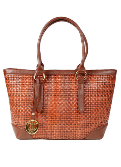 Indian Accessories Designers - Images Bags - Indian Designer Bags - IMG-SS15-L1467-A-Bk - Brick Leather Chattai Bag