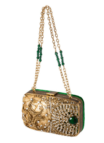 Indian Accessories Designers - Meera Mahadevia - Indian Designer Bags - MM-SS14-MM-COU-019 - Glamorous and Elegant Bejewelled Clutch