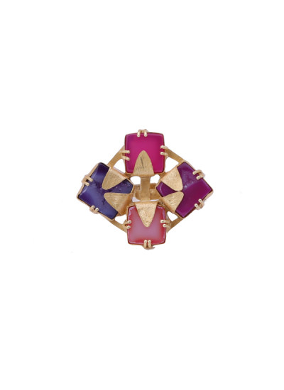 Indian Accessories Designers - Roopa Vohra - Indian Designer Jewellery - Designer Rings - RV-SS15-E89-239 - Geometric Four Stone Ring