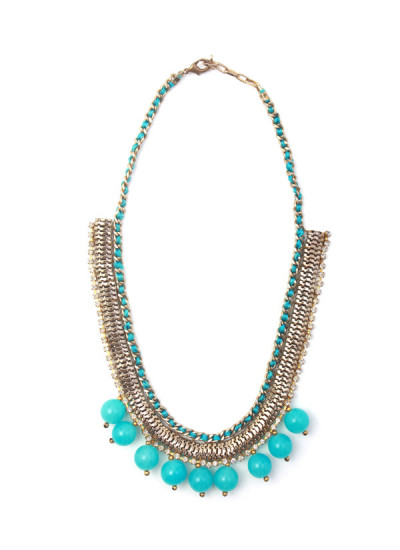 Indian Accessories Designers - Sannam Chopra - Indian Designer Jewellery - Designer Necklaces - SC-SS15-EAN-2775 - Lovely Blue Necklace