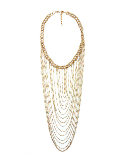 Indian Accessories Designers - Sannam Chopra - Indian Designer Jewellery - Designer Necklaces - SC-SS15-EAN-3090 - Gorgeous Cascading Necklace