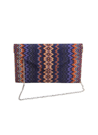 Indian Accessories Designers - The Purple Sack - Indian Designer Bags - TPS-SS15-TPS11 - Chevron Printed Clutch