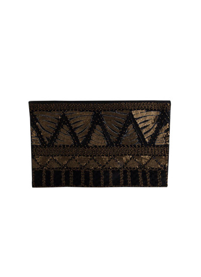 Indian Accessories Designers - The Purple Sack - Indian Designer Bags - TPS-SS15-TPS38 - Stylish Sequined Clutch
