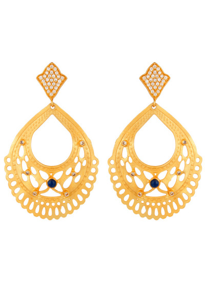 Indian Accessories Designers - Urban Dhani - Indian Designer Jewellery - Designer Earrings - UD-SS15-GE-15 - Lapiz Filigree Earrings