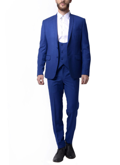 Indian Fashion Designers - Alvin Kelly - Contemporary Indian Designer - Blue Solid Blazer - ALK-SS16-ALK-BLZ-904