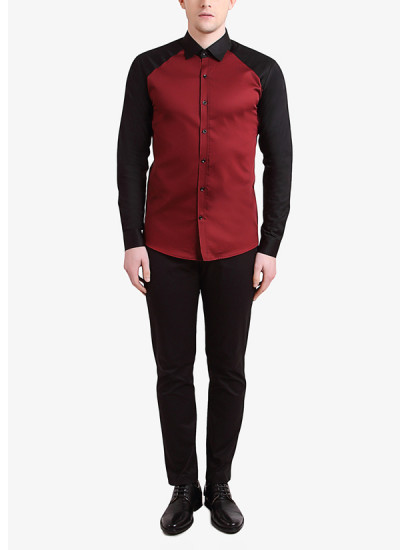 Indian Fashion Designers - Alvin Kelly - Contemporary Indian Designer - Stylish Maroon Casual Shirt - ALK-SS16-ALK-SHT-1005