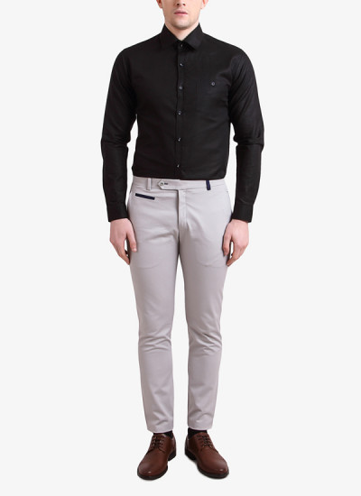 Indian Fashion Designers - Alvin Kelly - Contemporary Indian Designer - Black Solid Slim Fit Shirt - ALK-SS16-ALK-SHT-1017