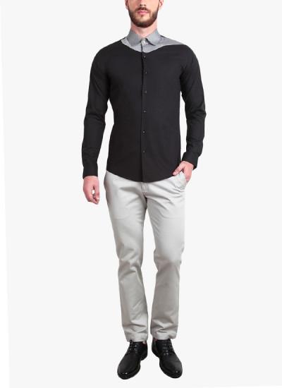 Indian Fashion Designers - Alvin Kelly - Contemporary Indian Designer - Stylish Black Casual Shirt - ALK-SS16-ALK-SHT-1189