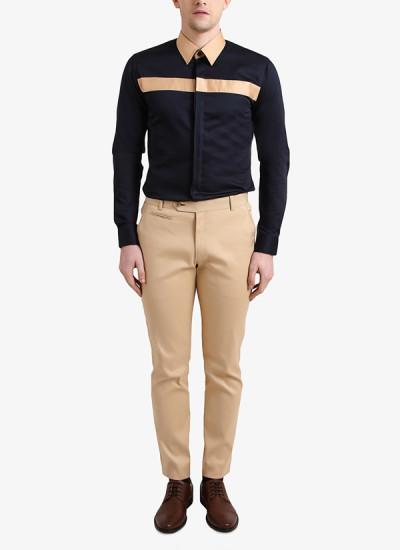 Indian Fashion Designers - Alvin Kelly - Contemporary Indian Designer - Striking Navy Blue Shirt - ALK-SS16-ALK-SHT-968