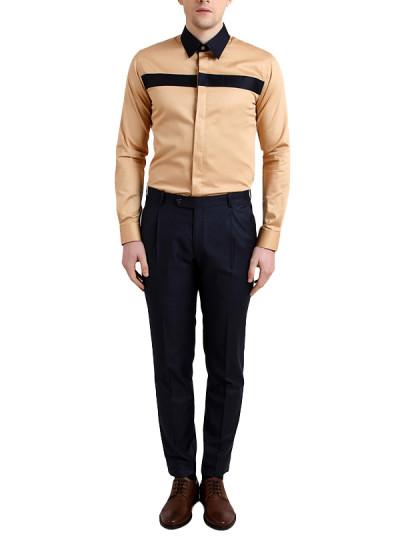 Indian Fashion Designers - Alvin Kelly - Contemporary Indian Designer - Stylish Beige Casual Shirt - ALK-SS16-ALK-SHT-971