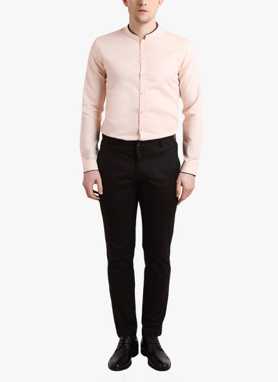 Indian Fashion Designers - Alvin Kelly - Contemporary Indian Designer - Peach Casual Shirt - ALK-SS16-ALK-SHT-991