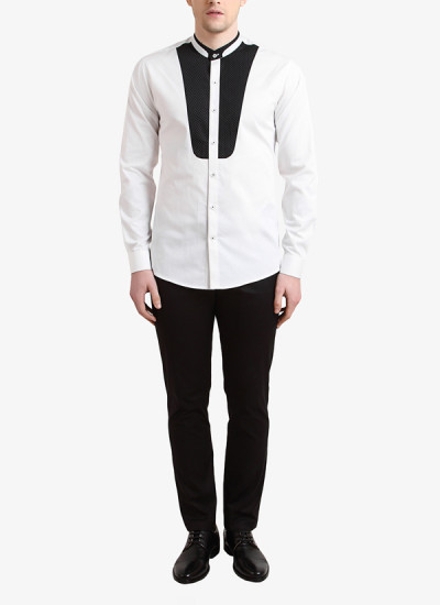 Indian Fashion Designers - Alvin Kelly - Contemporary Indian Designer - White Printed Casual Shirt - ALK-SS16-ALK-SHT-996