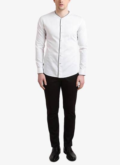 Indian Fashion Designers - Alvin Kelly - Contemporary Indian Designer - White Solid Casual Shirt - ALK-SS16-ALK-SHT-998
