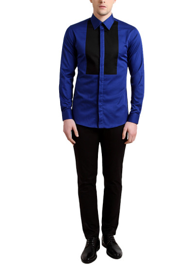 Indian Fashion Designers - Alvin Kelly - Contemporary Indian Designer - Striking Blue Casual Shirt - ALK-SS16-ALK-SHT-999