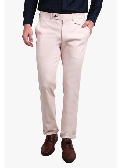 Indian Fashion Designers - Alvin Kelly - Contemporary Indian Designer - Pink Solid Slim Fit Formal Trouser - ALK-SS16-ALK-TRS-1261