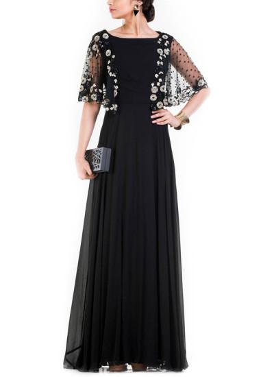 anushree agarwal long jet black dress shop dresses at