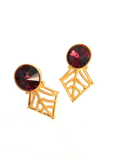 Indian Fashion Designers - Artsie Ville - Contemporary Indian Designer - Daisey Earrings - ARV-AW16-AVE021