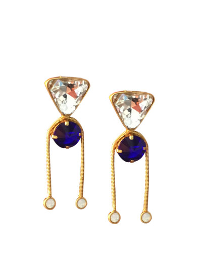 Indian Fashion Designers - Artsie Ville - Contemporary Indian Designer - Aariana Earrings - ARV-AW16-AVE034