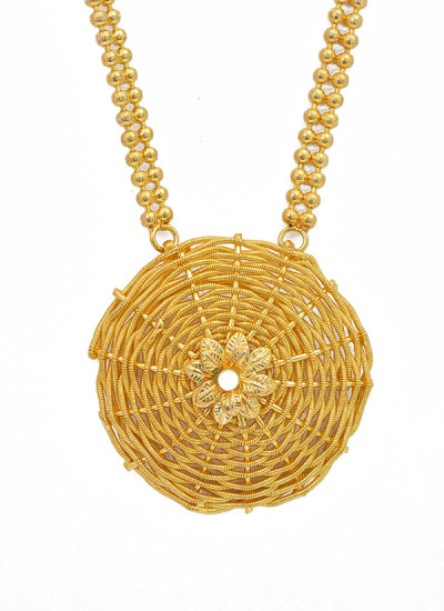 Indian Fashion Designers - Artsie Ville - Contemporary Indian Designer - Aileen Gold Necklace - ARV-AW16-AVN028