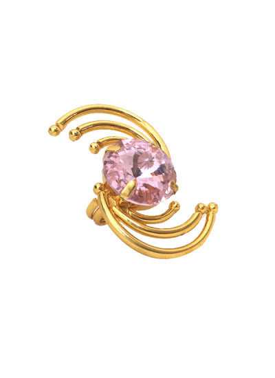 Indian Fashion Designers - Artsie Ville - Contemporary Indian Designer - Pink Calista Ring - ARV-AW16-AVR036