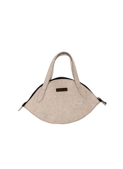 Indian Fashion Designers - Corkiza - Contemporary Indian Designer - White Cork Micro bag - CKZ-AW16-CKZ06B