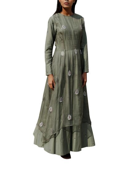 Indian Fashion Designers - Kanelle - Contemporary Indian Designer - Pretty Kalidaar Dress - KAN-AW16-KAN-AP-16IF23