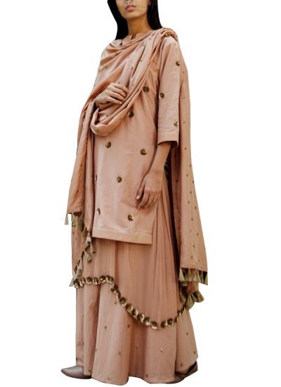 Indian Fashion Designers - Kanelle - Contemporary Indian Designer - Enchanting Beige Suit - KAN-AW16-KAN-AP-16IF25