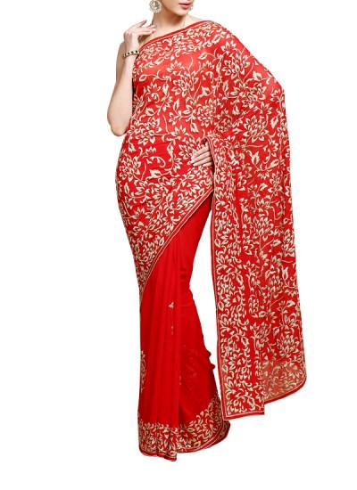 Indian Fashion Designers - Kyra - Contemporary Indian Designer - Mughal Love Saree - KYA-AW16-KR002