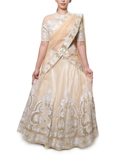Neha Gursahani  Nude And Off White Lehenga  Shop -8407