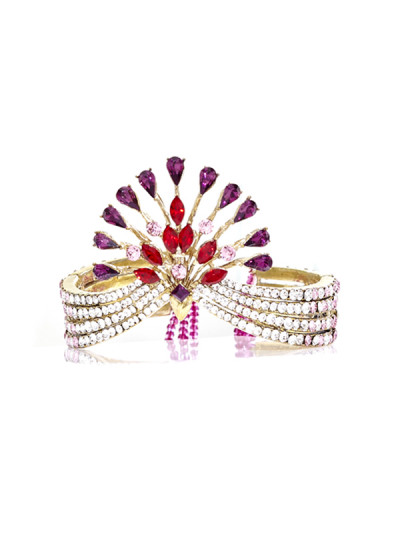 Indian Fashion Designers - Nine Vice  - Contemporary Indian Designer - Lady Rouge Bracelet - NIV-AW16-MR-BR-6