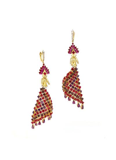 Indian Fashion Designers - Nine Vice  - Contemporary Indian Designer - Feerie Earrings - NIV-AW16-MR-E-8