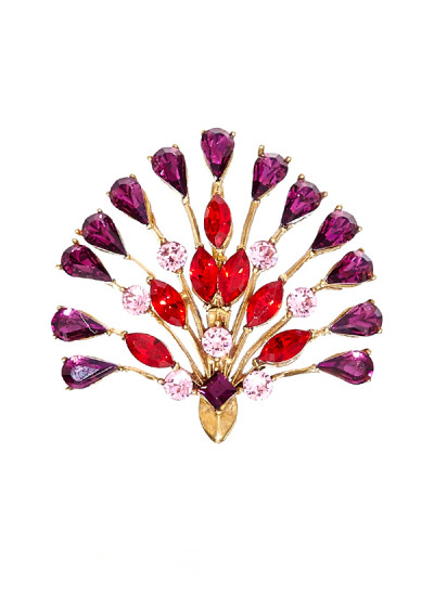 Indian Fashion Designers - Nine Vice  - Contemporary Indian Designer - Lady Rouge Plume Hairclip - NIV-AW16-MR-H-5