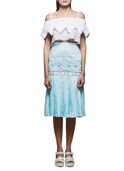 Indian Fashion Designers - Pushpak Vimaan - Contemporary Indian Designer - Chic Off Shoulder Top Set - PV-SS16-PV-CL2-02