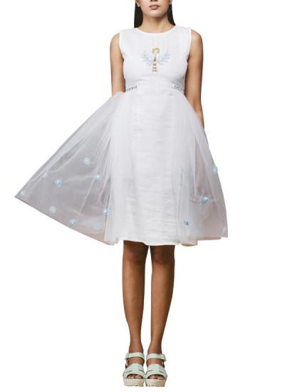 Indian Fashion Designers - Pushpak Vimaan - Contemporary Indian Designer - Jewel Neckline Dress - PV-SS16-PV-CL2-05