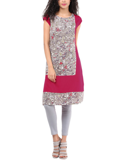 Indian Fashion Designers - Red Couture - Contemporary Indian Designer - Pink Mix and Match Tunic - RC-AW16-RC16-5w13