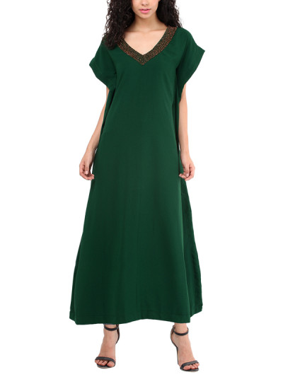 Indian Fashion Designers - Red Couture - Contemporary Indian Designer - Emerald Green Kaftan - RC-AW16-RC16-5w32