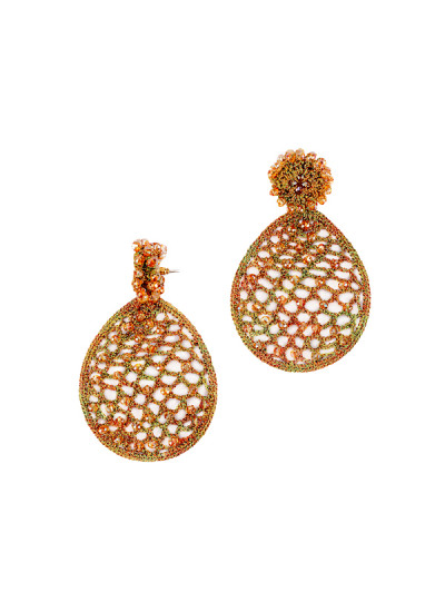 Indian Fashion Designers - Rhea - Contemporary Indian Designer - The Honey Comb Earrings - RH-AW16-1030006